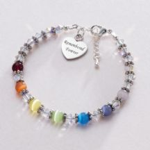 Any Engraving, Rainbow Bereavement Bracelet